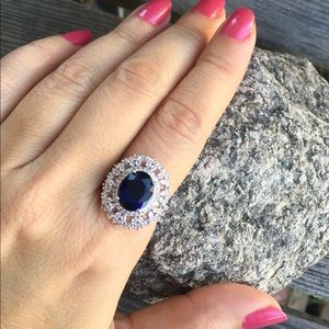 Jewelry - 🆕 Blue Sapphire Silver Ring Size 7